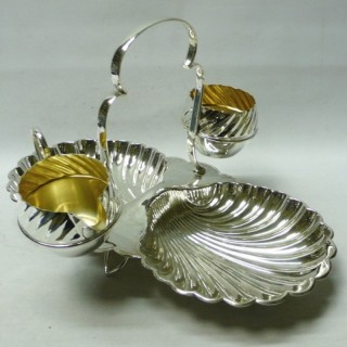 Antique Silver Plated Strawberry Set