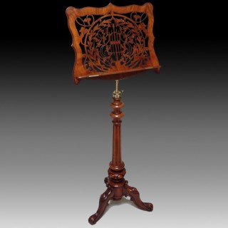 Victorian Walnut Antique Music Stand by Brooks & Co