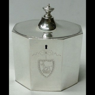 George III Silver Tea Caddy Box