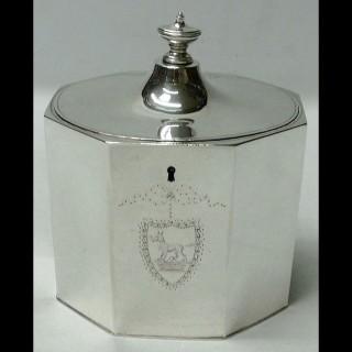 George III Silver Tea Caddy Box