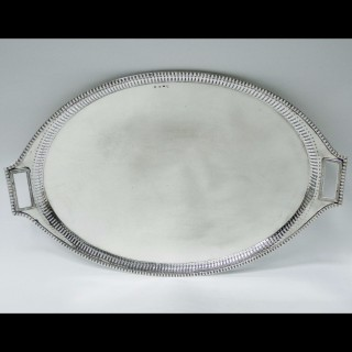 Antique Russian Silver Tray