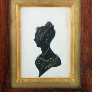 19th Century Framed Silhouette