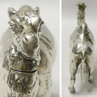 Antique German Silver Camel Box