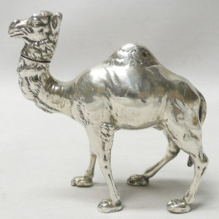 Antique German Silver Camel Box