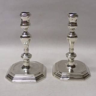 Queen Anne Silver Candlesticks