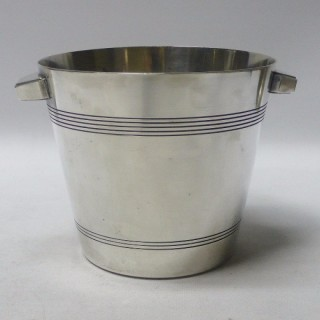 Art Deco Silver Plated Ice Bucket