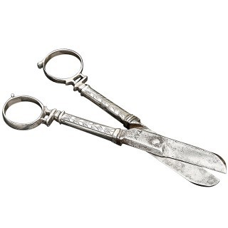 Rare Pair of Charles I Silver Scissors (1635 to 1640 England)