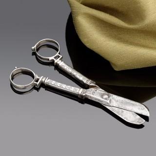 Rare Pair of Charles I Silver Scissors (1635 to 1640 England)