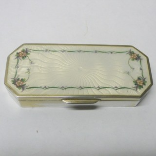 Antique Continental Silver and Enamel Box