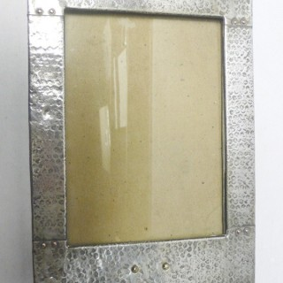Arts & Crafts Style Silver Plated Photo Frame
