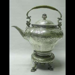 Georgian Tea Kettle in Old Sheffield Plate