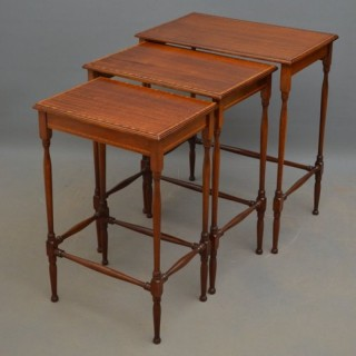 Edwardian Nest of Tables in Mahogany