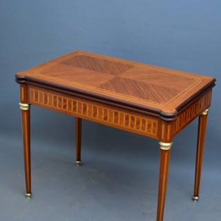 An Attractive Continental Card Table