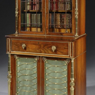 Regency Period Secretaire Bookcase Attributed to John McLean of London