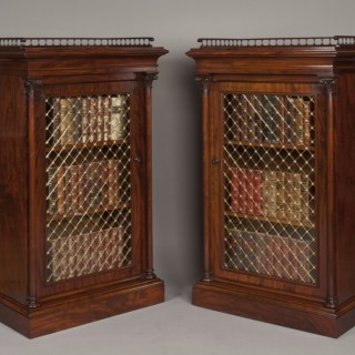 A Very Fine Pair of Antique Library Cabinets of the late Georgian Period