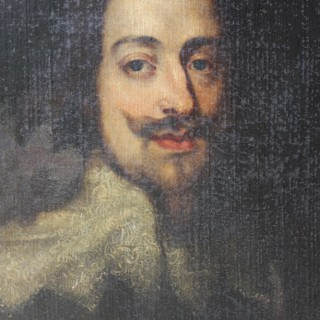 After Sir Anthonius Van Dyke; A Good Oil on Canvas Portrait of Charles I by Dame Frances Anne Marjoribanks c.1840