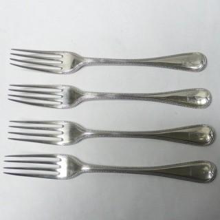 Antique Silver Dessert Forks