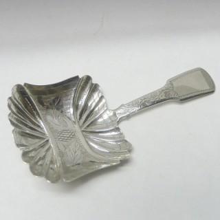 Georgian Silver Caddy Spoon