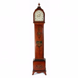 1810s Satinwood Month-going longcase clock, McCabe