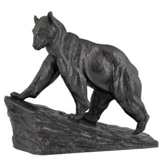 Art Deco bronze bear.