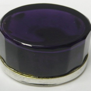 Georgian Silver Vinaigrette with Amethyst Glass