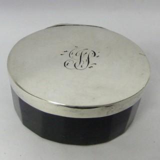 Georgian Silver Vinaigrette with Amethyst Glass