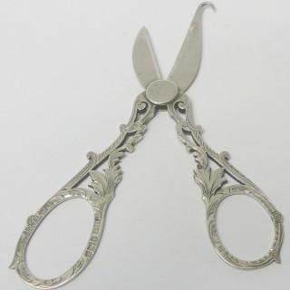 Antique Silver Grape Scissors