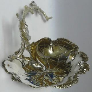 Victorian Silver Plated Grape Dish