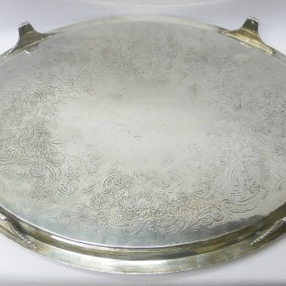 Antique George III Silver Tray