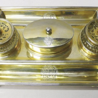 Antique Silver Inkstand