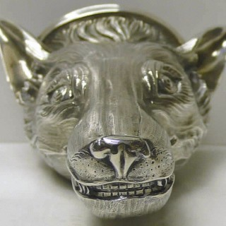 George III Silver Fox Stirrup Cup