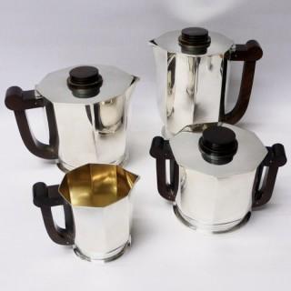 Art Deco French Silver Tea Set by Tetard Freres