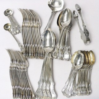 Antique Silver Cutlery for 12