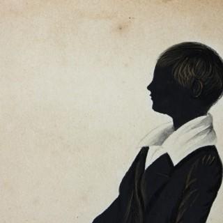 A Charming Regency Period English Silhouette of a Boy c.1825
