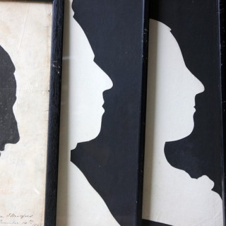 A Striking Group of Six English School Mid-Victorian Life-Size Silhouettes c.1860-70