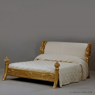 Louis-Philippe Giltwood King Size Bed