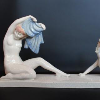 Art Deco Ceramic Sculpture