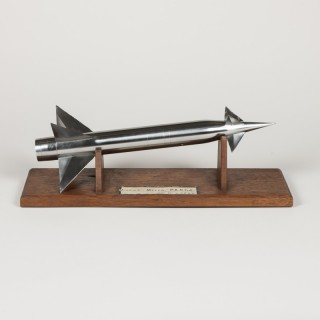 A wind tunnel model of a French sounding (meteorological) rocket
