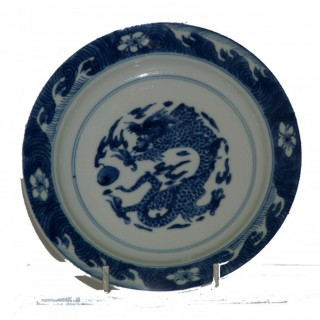Kangxi porcelain blue and white plate