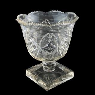 Regency Cut Crystal bowl