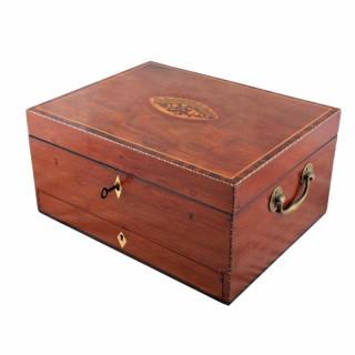 Georgian Mahogany Dressing Box