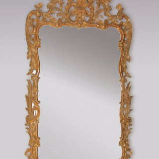 Antique mid 18th Century Chippendale period giltwood Mirror