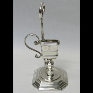 Queen Anne Silver Snuffers and Stand