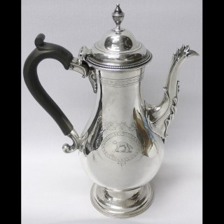 Georgian Silver Coffee Pot by Hester Bateman