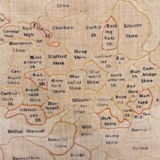Needlework Map of England & Wales