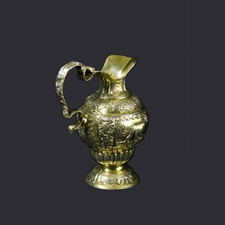 George III Cast Silver Gilt Cream Jug