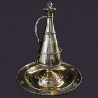 A fine silver gilt Ewer and Basin