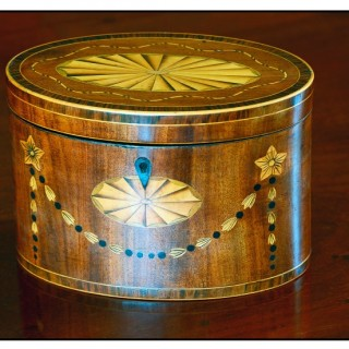 Oval TEA CADDY