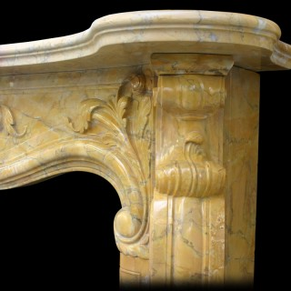 Large and impressive Scottish Rococo Chimneypiece in Sienna marble