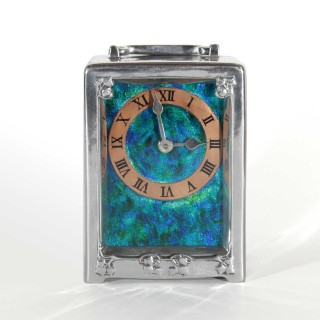 Liberty & Co 0721 Pewter Carriage clock